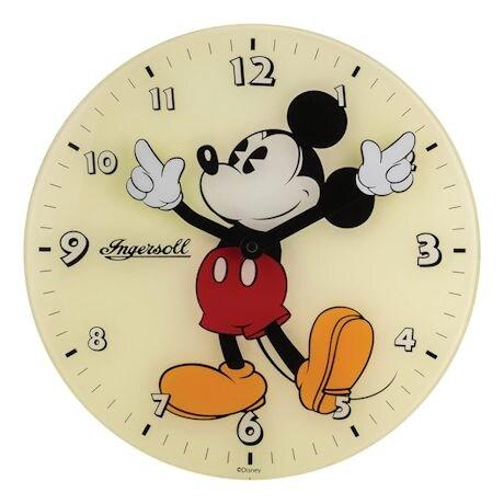 Retro Mickey Mouse Glass Clock
