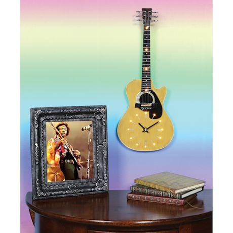 Led Lighted Acoustic Guitar Clock