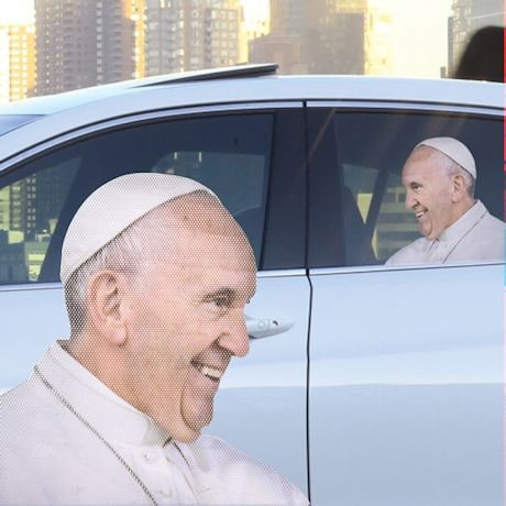 Ride With The Pope Car Window Decal