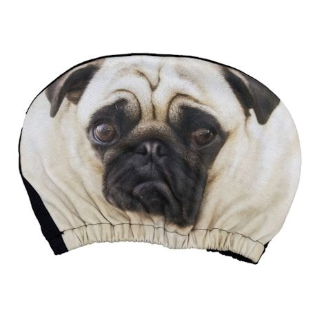Pet Headrest Covers - Pug