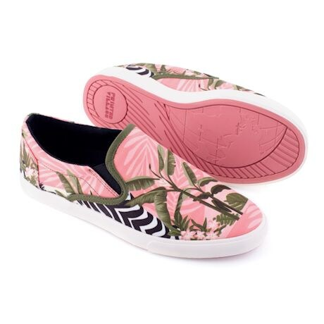 Printed Slip On Sneakers - Zebra
