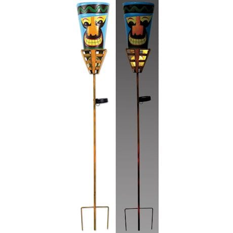 Solar Tiki Torches - Big Orange Nose