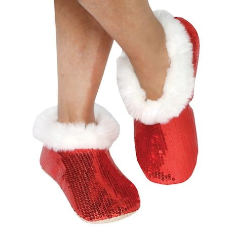 Red Sequin Slippers