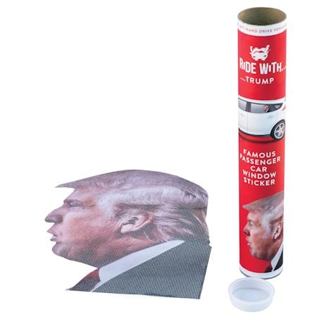 Ride With Trump Car Decal - Left Facing