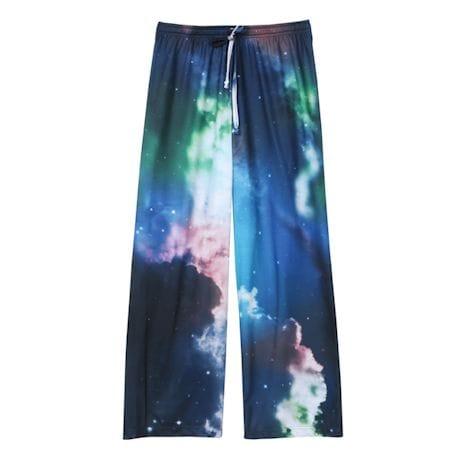 Galaxy Design Lounge Pants - Elastic Drawstring Waistband