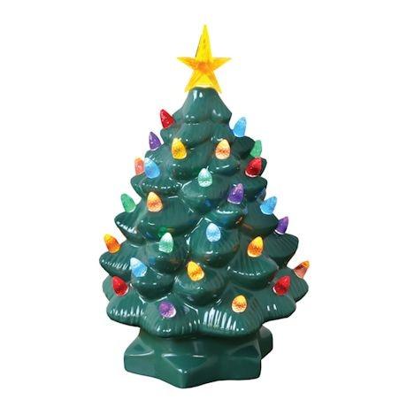 Nostalgic Ceramic Lighted Christmas Tree 10