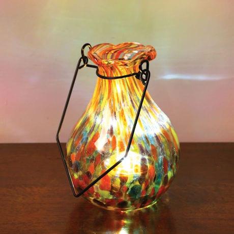 Solar Glass Vase - Multi Yellow
