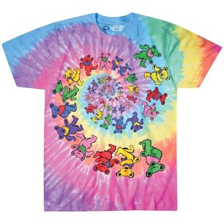 Grateful Dead Spiral Bear Tie-Dye Tee