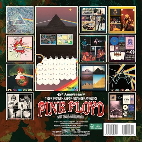Classic Rock 2018 Calendars - Pink Floyd