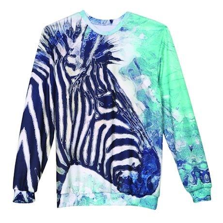 Zebra Watercolor Tee & Sweatshirt
