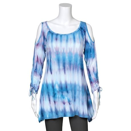 Ombre Cold-Shoulder Tunic