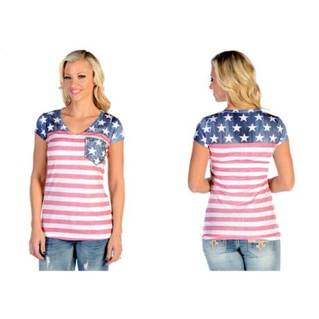 Sublimated Flag Ladies' T-shirt