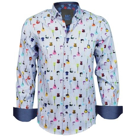Men's Guitar Dress Shirt