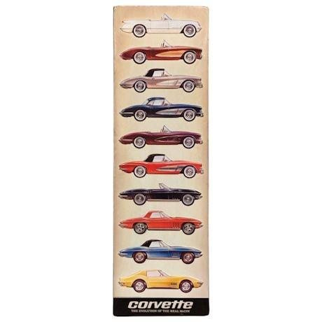 Corvette Evolution Tin Sign