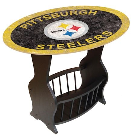 NFL End Table With Magazine Rack
