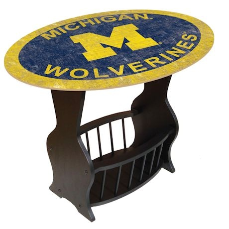 NCAA End Table With Magazine Rack