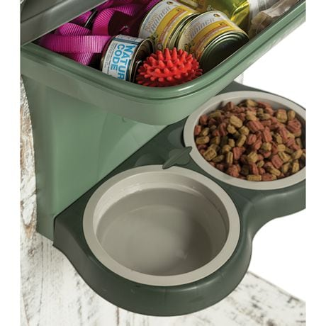 Elevated Dog Food Stand - Large