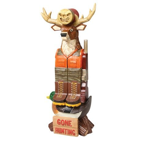 Gone Hunting Tiki Totem Pole