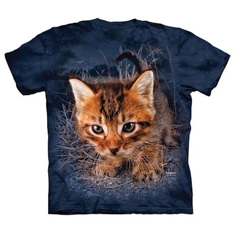 Pouncing Cats T-shirts - Blue