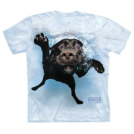 Underwater Dogs Tees - Black Lab