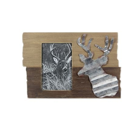 Rustic Wooden Frame with Deer