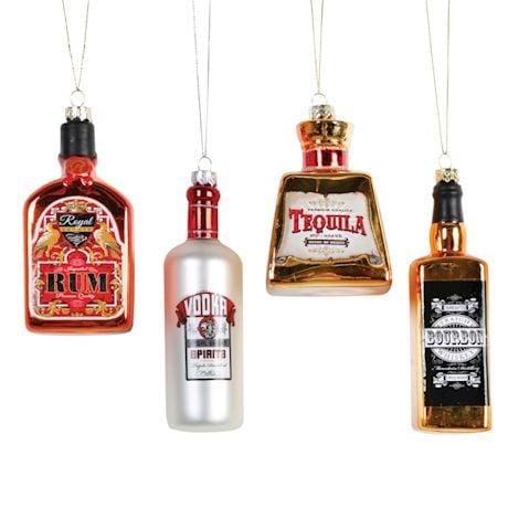Top-Shelf Liquor Glass Ornaments Set