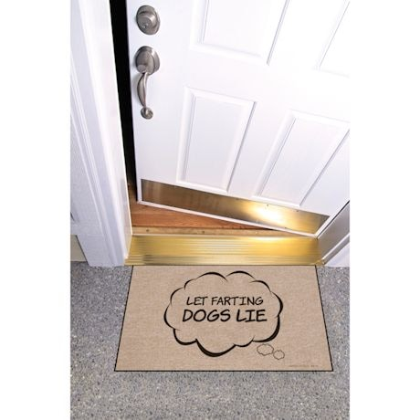 High Cotton Front Door Welcome Mats - Let Farting Dogs Lie