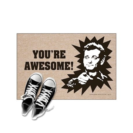 High Cotton Front Door Welcome Mats - You're Awesome - Bill Murray Stripes