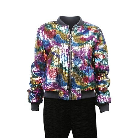 Women's Multi-Colored Bomber Fashion Jacket