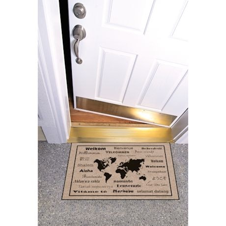 High Cotton Front Door Welcome Mats - International Language for 'Welcome'