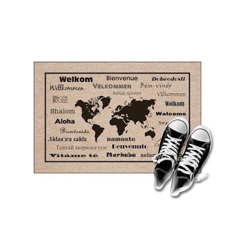"High Cotton Front Door Welcome Mats - International Language for ""Welcome"""