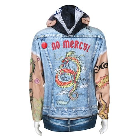 Tattoo Zip-Up Biker Hoodie