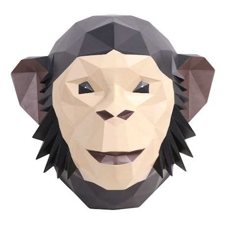 3D Chimpanzee Wall Art - African Animal Wall Sculpture