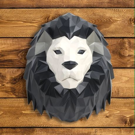 3D Lion Wall Art - African Animal Wall Sculpture