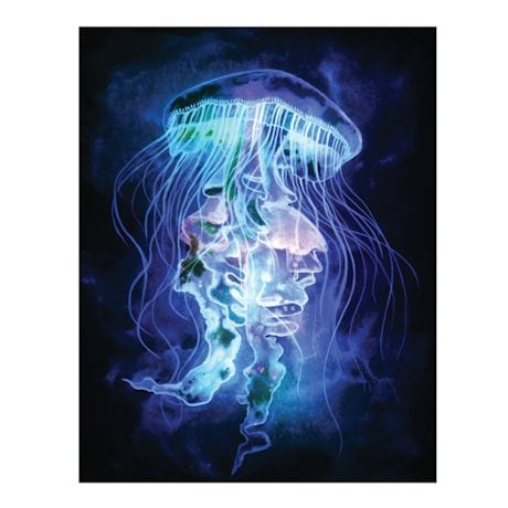 Led Light Up Jellyfish Canvas Wall Art