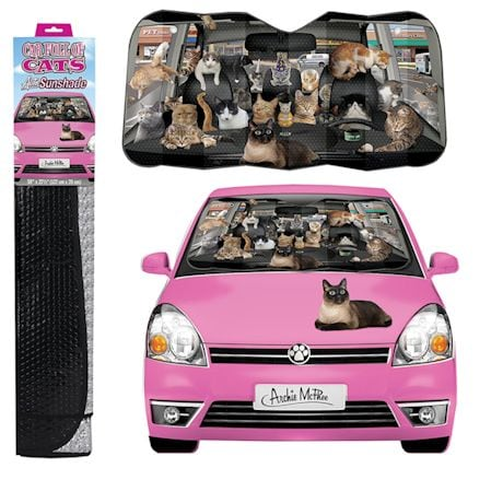 Crazy For Cats Car full of Cats Auto Windshield Car Sun Shade
