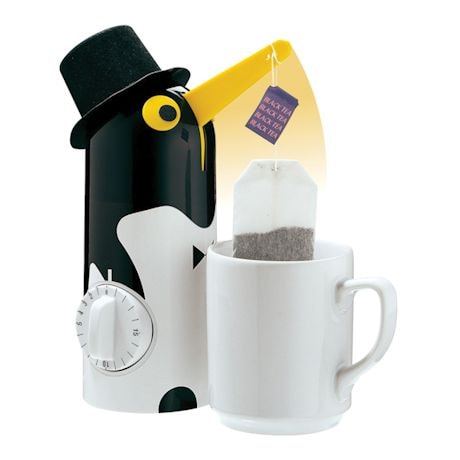 "Penguin Automatic Tea Steeper and Kitchen Timer - 8"" High"