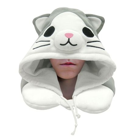 Cat Hooded Neck Pillow