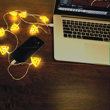 USB String Light Chargers - Pizza Slices