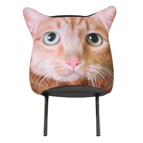 Animal Headrest Covers - Tabby Cat
