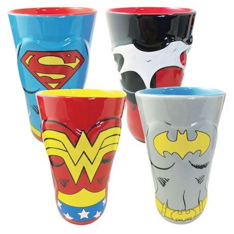 DC Comic Women Molded 4Pk Pint Glass