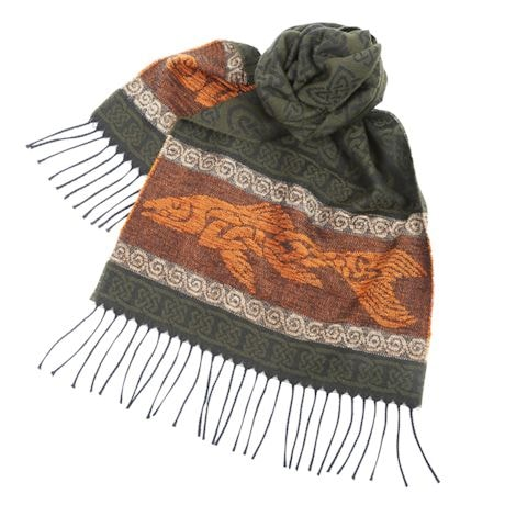 Celtic Beasties Scarves - Fish