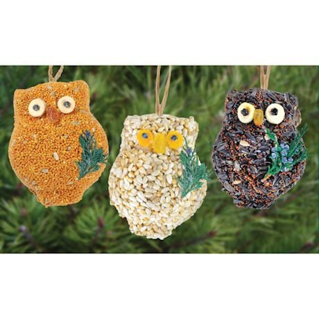 Owl Bird Seed Ornaments