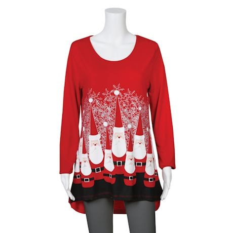 Women's Ultimate Santa Jersey Tunic - 3/4 Sleeve