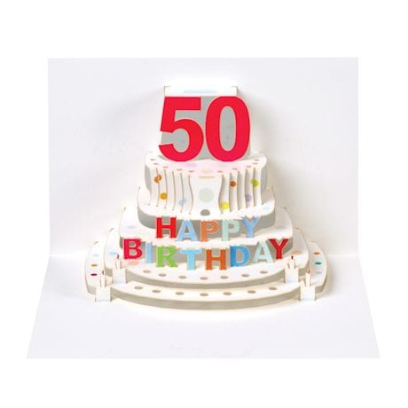 Pop-Up Milestone Birthday Cards - Fifty