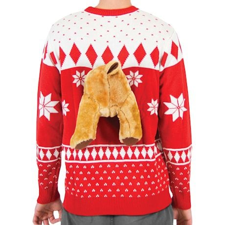 Plush Moose Fair Isle Winter Sweater at What on Earth | CW2982