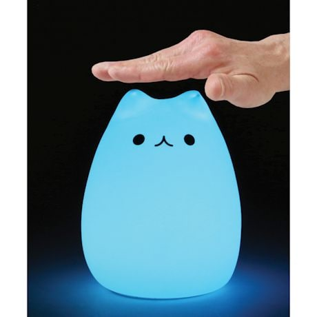 Color Changing LED Tap Cat Night Light - Tap On/Off