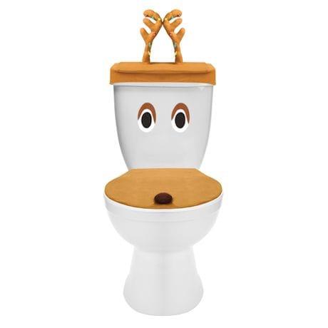 Reindeer Toilet Cover Set