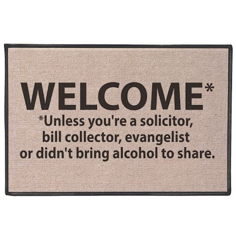 Welcome* Unless… Doormat