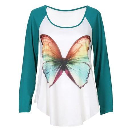 Butterfly Baseball-Style T-Shirt